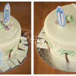 Surfs Up Birthday Cake - Natural Colouring