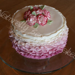Carnations and Frills Cake - Natural Colouring