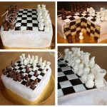 Chessboard Cake and Chocolate Pieces - Natural Colouring