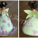Fairy Doll Cake with Butterflies - Natural Colouring