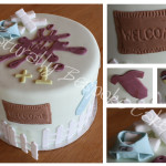 Baby Shower and House Warming Cake - Natural Colouring
