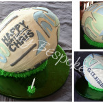 Rugby World Cup Ball Cake - Natural Colouring