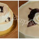 White and Dark Chocolate Rose Cake - Natural Colouring