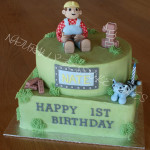 Bob the Builder cake - Natural colours