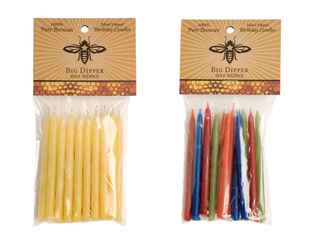 Beeswax Birthday Cake Candles 12 Pack Naturally Bespoke Cakes