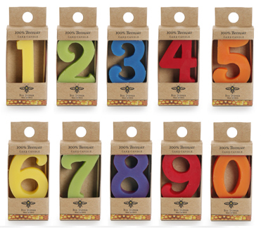 Beeswax Birthday Cake Candle Numbers Naturally Bespoke Cakes