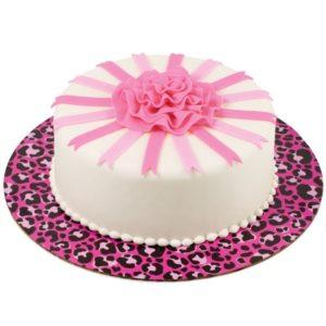 2104-1337 leopard pink cake board